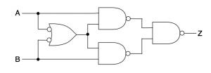 2入力、1出力の回路図