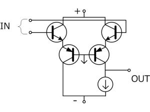 オペアンプの内部構成例