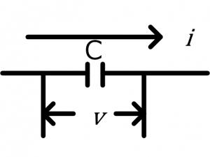 コンデンサに流れる電流
