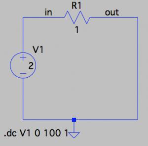 オームの法則の回路例